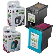 LD Remanufactured Replacements for HP 94 & 95 Ink Cartridges: 1 Black & 1 Color