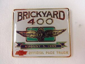 1995 Brickyard 400 Event Chevrolet Pace Truck Sponsors Collector Pin Indy Nascar