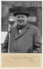 Signed photo of Winston S. Churchill, with presentation letter from Eddie Marsh