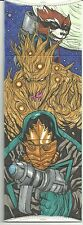 2014 UD Marvel Premier 4 Panel Sketch Guardians Galaxy Groot Rocket by Carrillo