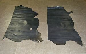 (WYE6856-1) Lot of 6 Sides of Blue Green Raised Print Cow Leather Hides Skin