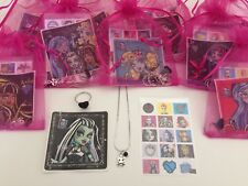 Monster High Pre Filled Party Bags,Gift/Filler,Necklace,Ring, Sticker, Halloween