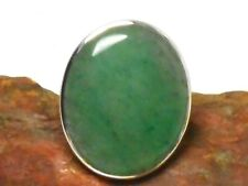 Green AVENTURINE   Sterling  Silver  925  Gemstone  RING  -  Size:  P
