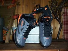 AND1 BOYS ATHLETIC SHOES SIZE 6 KIDS SCHOOL SHOES SPORTS BASKETBALL GRAY ORANGE