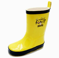 KIDS GIRLS BOYS CHILDRENS YELLOW WELLINGTONS RAIN SPLASH WELLY BOOTS SIZES 8-12