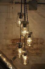 Mason Jar Chandelier Pendant Light Fixture Rustic Industrial Retro