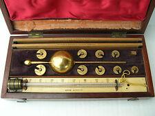 Antique Sikess Hydrometer Farrow & Jackson London Paris #4012 Complete w/ Case