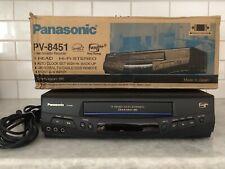 New listing Panasonic Pv-8451 Vhs Vcr Player 4-Head Hi-Fi Stereo Video Cassette Recorder