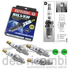 Candele Accensione Gas GPL Metano FIAT STILO 192 1.6 01-08 Brisk Silver DR17YS-9