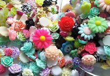 kawaii cabochons - flower cabochons - resin flatbacks - craft supplies
