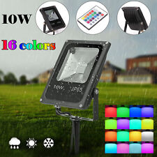 16 Color RGB Changing LED Floodlight Outdoor Garden Yard Spotlight Waterproof