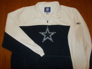 REEBOK NFL DALLAS COWBOYS 1/4 ZIP FLEECE JACKET MENS 2XL EXCELLENT CONDITION