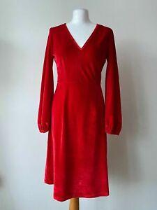 Red Velvet Fit & Flare Dress Size 10 Christmas