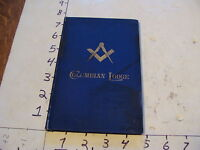 Vintage Fraternal book~~ BY-LAWS of COLUMBIAN LODGE boston 5889