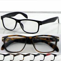 L142H Wayfarer Reading Glasses+Case/Super Classic Style/Large Frame Nerd Glasses