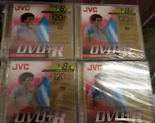 JVC Recordable DVD+R Discs for Video/Data 120 Min 4.7 GB New in Sealed Packages