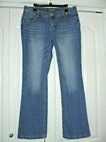 MAURICES CURVY Distressed Med. Wash Boot Cut Leg Jeans Sz 14R