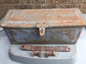 massey ferguson tractor T20 Tea Tef Ted Genuine Tool Box With Fixings Grey Fergy
