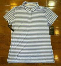 Women's Size XS Nike Golf Polo Shirt Purple Striped 884867-415