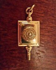 Antique Vintage Gold Key Charm Pendant College University RUTGERS  #FF37