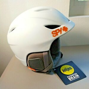 Spy Sender Helmet Skiing Snowboarding MIPS Brain Protection White Medium