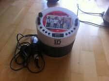 ONE DIRECTION CD PLAYER WITH MICROPHONE