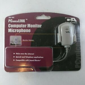 CVL-1101 PCvoiceLINK Computer Monitor Microphone CA Cyber Acoustics NEW SEALED