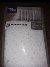 """Better Homes & Gardens White Eyelet Adjustable Bed Skirt 156"""" W X 16"""" H"""