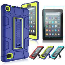 For Amazon Kindle Fire 7 2019 9th Gen Tablet Hybrid Stand Case+Screen Protector