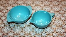 Boonton Melmac Retro Blue Sugar Bowl & Creamer Set
