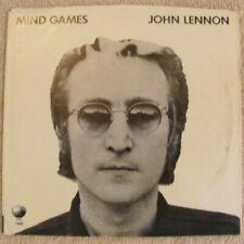 "(45 PS) (Hear) John Lennon (Beatles) - ""Mind Games"" - Pop Rock (1973)"