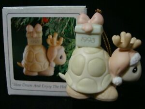 Precious Moments *SIGNED BY SAM*  Ornament-Turtle/Antlers/Gift