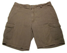 Columbia Sportswear Cargo Shorts Dark Gray Charcoal Metal Button Mens sz 36W 10L