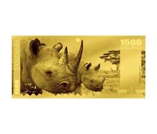2018 Tanzania Big 5 - Rhino Foil Note Gold Sh1,500 Coin GEM Prooflike SKU51820