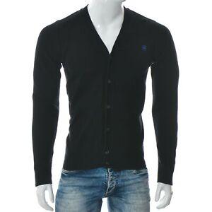 G-Star Raw Correctline Men's V-Neck C-Line Cardigan Knit Long Sleeve Black L