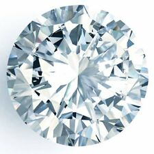Loose Moissanite Off White Blue VVS1 Round Cut 5.00 MM to 11.00 MM For Jewelry
