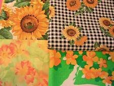 Lot of 4 SUNFLOWERS~ Robert Kaufman & Joan Messmore cotton sew fabrics see desc