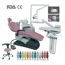 Dental Unit Chair Computer Controlled B2 Hard Leather FDA CE With Doctor Stool