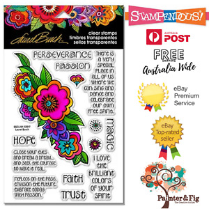 Flower Stamps - Hope, Faith, Trust, Perseverance, Passion - Floral Reflections