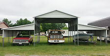 Steel Building 42x21 Barn Style Carport Metal Shelter Garage FREE SETUP DELIVERY