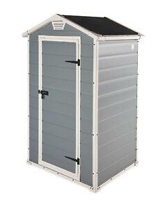 Keter Manor Grey Outdoor 3x4 ft Plastic Garden Storage Shed