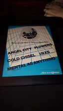 Inxs, Cold Chisel, Angel City, Flowers Rare Dirty Pool Promo Poster Ad Framed!