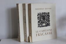 Capitaine Fracasse Gautier 3 Tomes Illustration Lucien Boucher Numéroté Mazarine