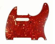 New Tele Pickguard Red Tortoise 8 Hole 4 Ply for USA Fender Telecaster Guitar