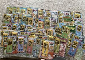 Highlights Which Way USA Puzzle Books Maps Lot Like New - 43 States Home School