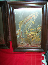 FRANKLIN MINT 2PC. OF 4PC.SET-WILDLIFE METAL ETCHINGS FRAMED