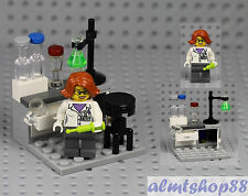 LEGO - Science Lab w/ Chemist Stool & Flask Scientist Minifigure Research 21110