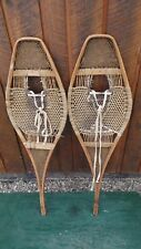 "VINTAGE OLD HURON Snowshoes 36"" long by 11"" wide Snow Shoes ANTIQUE"