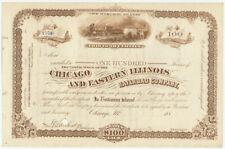 Chicago & Eastern Illinois Railroad Stock Certificate