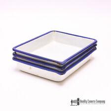 "Vintage Cesco Porcelain Acid Resistant 4 x 6"" Photo Developer Trays - Set of 3"